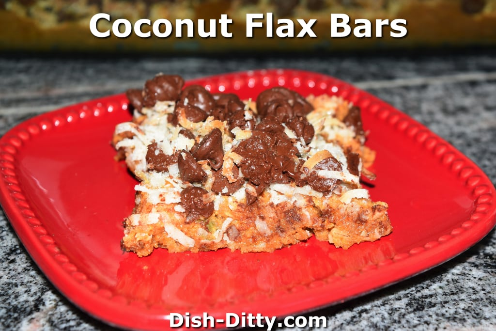 Coconut Flax Bars by Dish Ditty Recipes