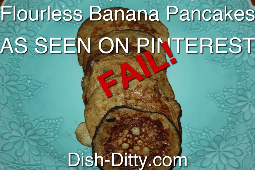 Flourless Banana Pancakes - As Seen On Pinterest FAIL!