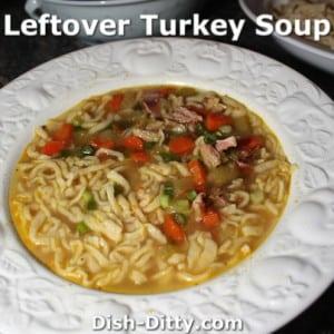 Leftover Turkey Soup