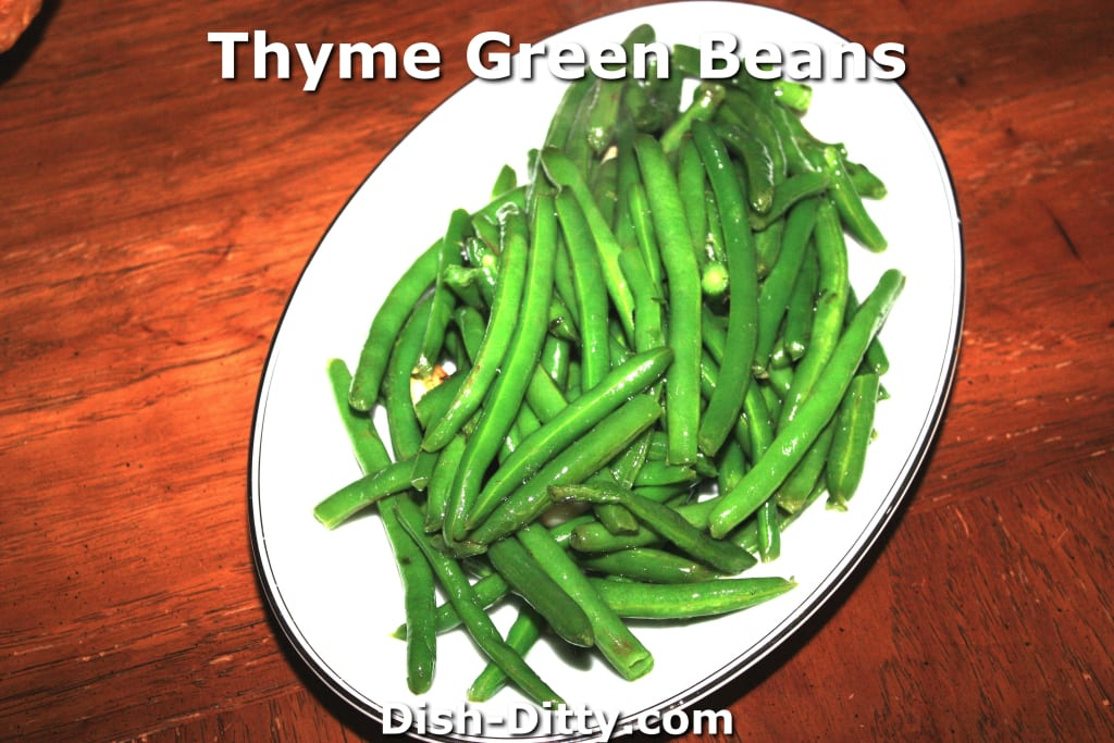 Thyme Green Beans by Dish Ditty Recipes