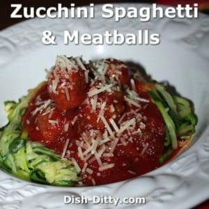 Zucchini Spaghetti & Meatballs
