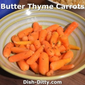 Butter Thyme Carrots