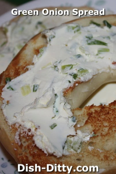 Chive & Green Onion Bagel Spread by Dish Ditty Recipes