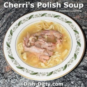 Polish Soup (modified Czarnina)