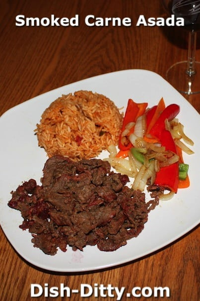 Smoked Carne Asada by Dish Dity Recipes