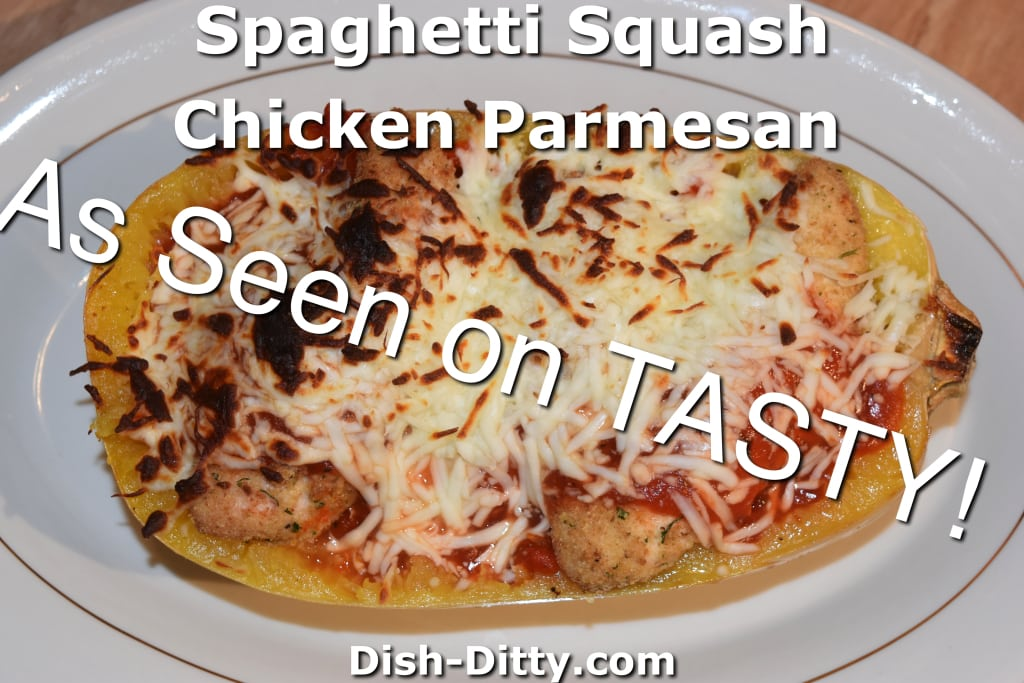 Spaghetti Squash Chicken Parmesan by Dish Ditty Recipes