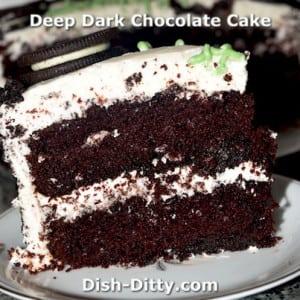 Deep Dark Moist Chocolate Cake Recipe
