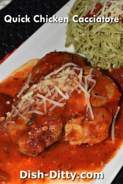 Quick Chicken Cacciatore Recipe – Dish Ditty Recipes