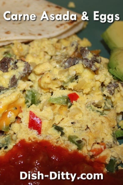 Carne Asada & Eggs by Dish Ditty Recipes