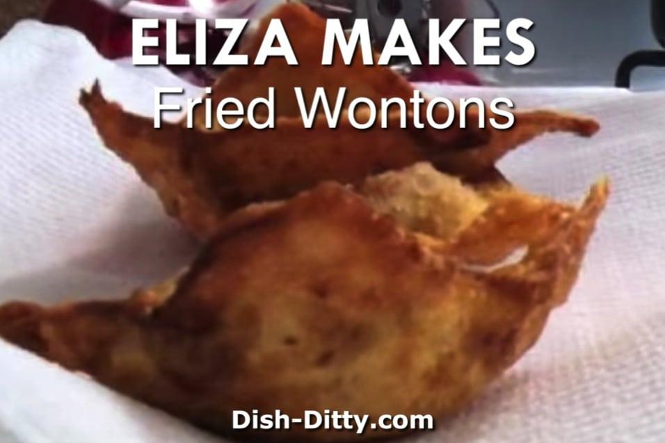 Eliza Makes Fried Wontons Recipe