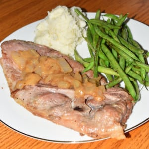 Pork Steak & Green Beans