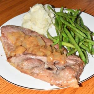 Pork Steak & Green Beans