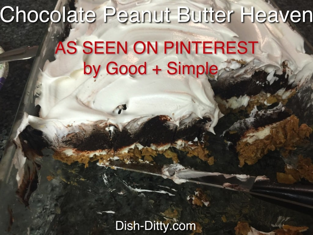 Chocolate Peanut Butter Heaven As Seen on Pinterest