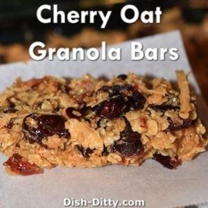 Cherry Oat Granola Bars