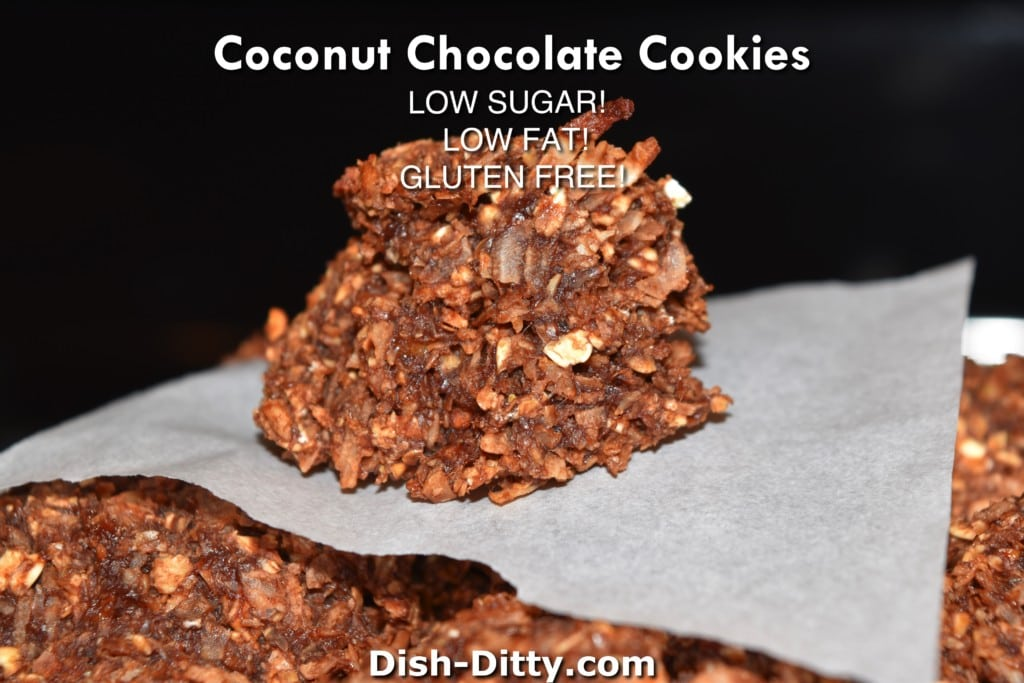 Coconut Chocolate Cookies Recipe (Low Sugar & Gluten Free) by Dish Ditty Recieps