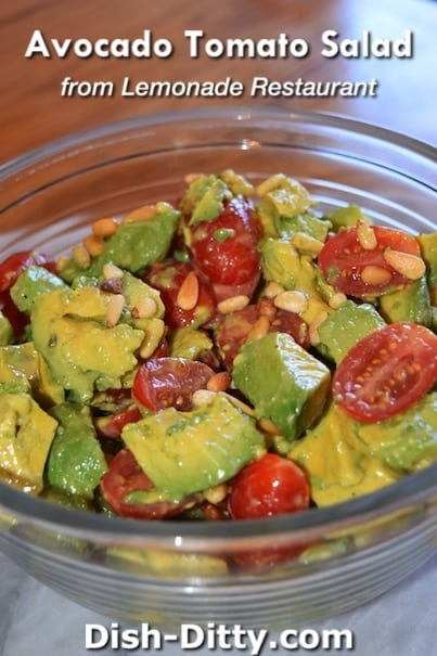 Avocado Tomato Salad Recipe from Lemonade Restaurant by Dish Ditty Recipes