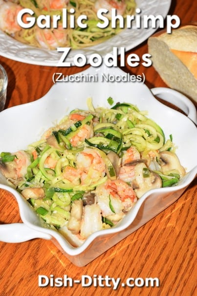 Garlic Shrimp Zoodles Recipe by Dish Ditty Recipes