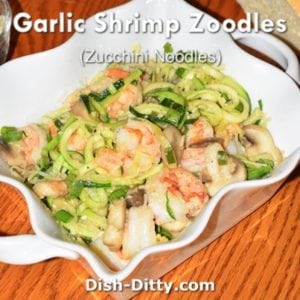 Garlic Shrimp Zoodles