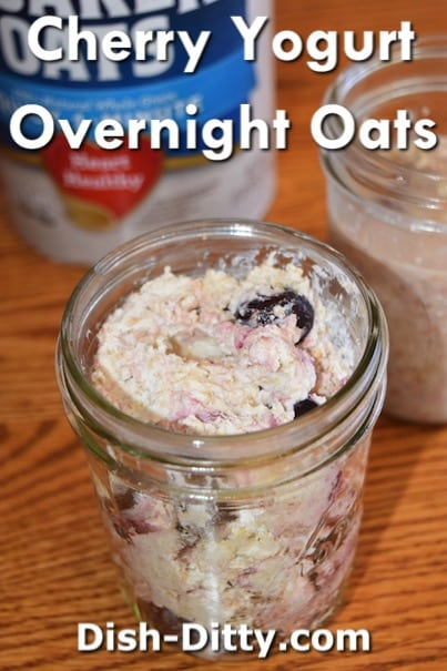 Tart Cherry & Yogurt Overnight Oats Recipe by Dish Ditty Recipes