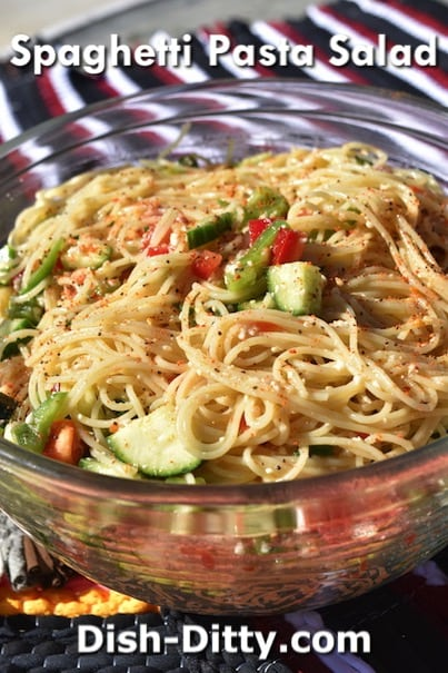 Spaghetti Pasta Salad Recipe by Dish Ditty Recipes