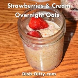 Strawberries & Cream Overnight Oats