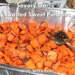 Savory Garlic Roasted Sweet Potatoes