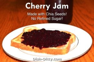Cherry Chia Jam Recipe by Dish Ditty Recipes