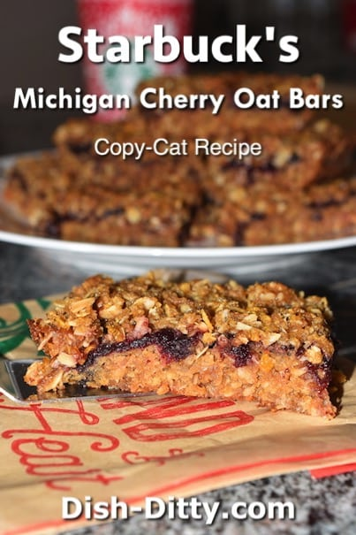 Starbuck's Michigan Cherry Oat Bars Copy Cat Recipe by Dish Ditty Recipes