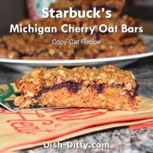 Starbucks Michigan Cherry Oat Bars (Copy Cat)