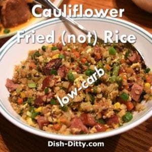 Cauliflower Fried (NOT) Rice