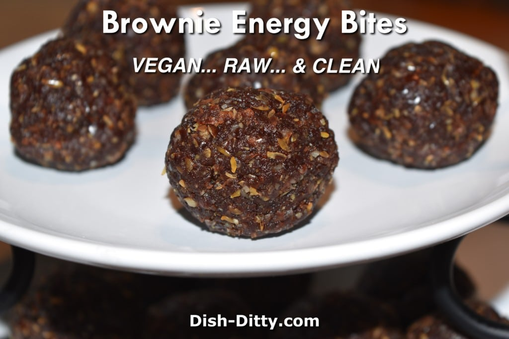 Brownie Energy Bites Recipe by Dish Ditty Recipes