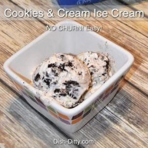 No Churn Cookies & Cream Ice Cream