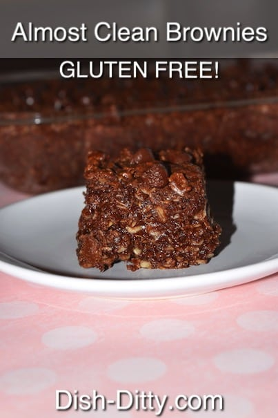 Almost Clean Gluten Free Brownies by Dish Ditty Recipes