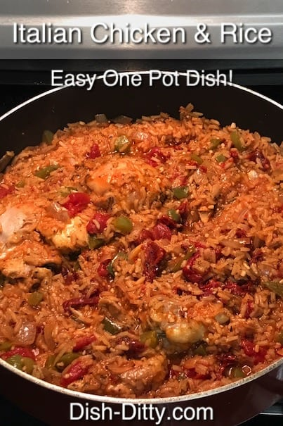 Italian Chicken & Rice Recipe by Dish Ditty Recipes