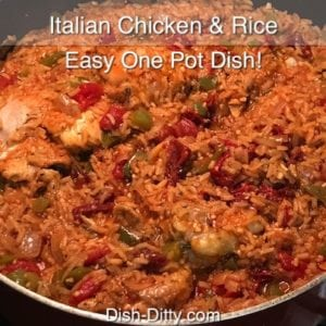One Pot Italian Chicken & Rice