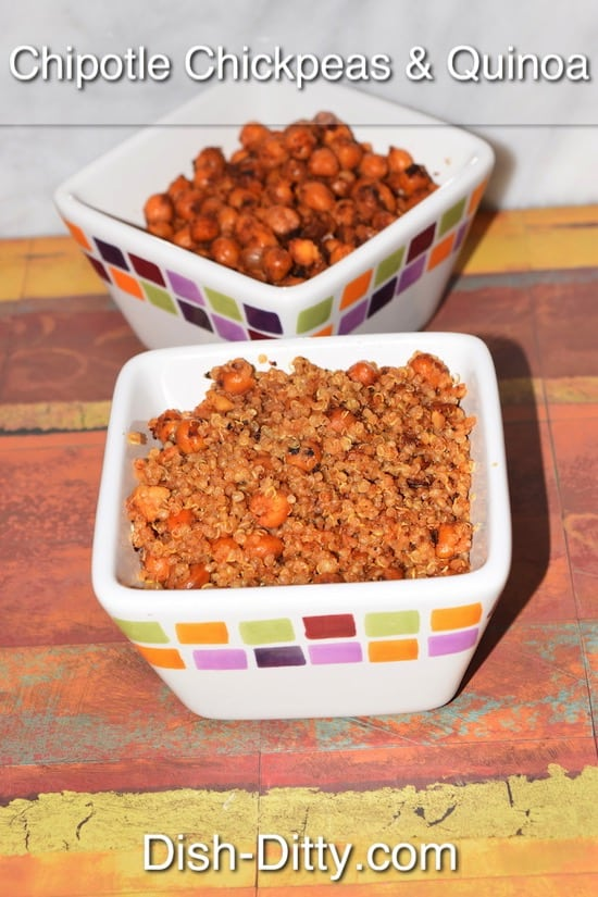 Chipotle Chickpeas with Quinoa Recipe by Dish Ditty Recipes