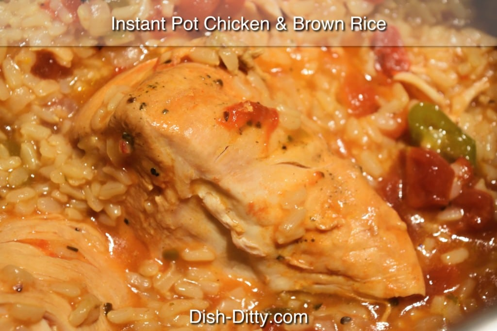 Instant Pot Chicken & Brown Rice Recipe by Dish Ditty Recipes