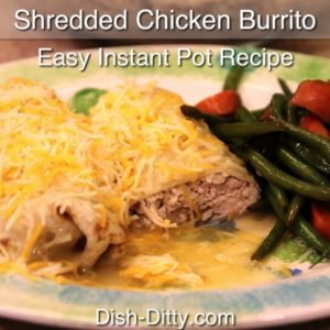 Easy Shredded Chicken Wet Burritos