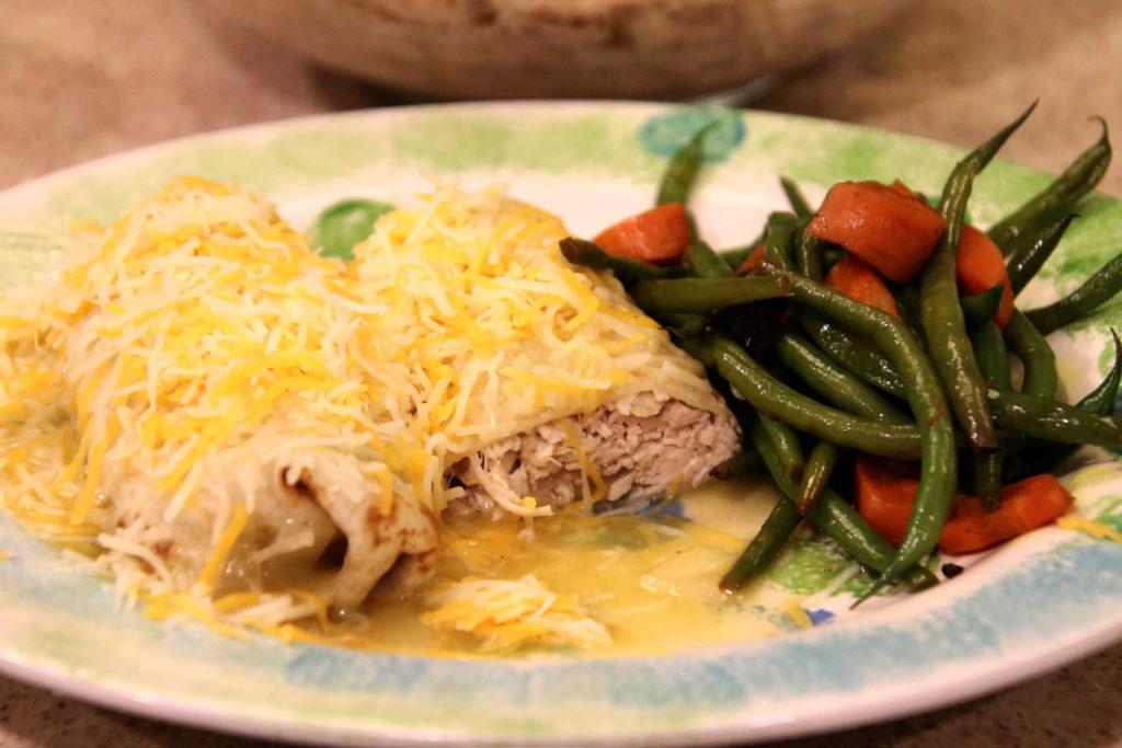 Shredded Chicken Wet Burrito Easy Instant Pot Recipe