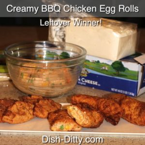 Creamy BBQ Chicken Egg Rolls