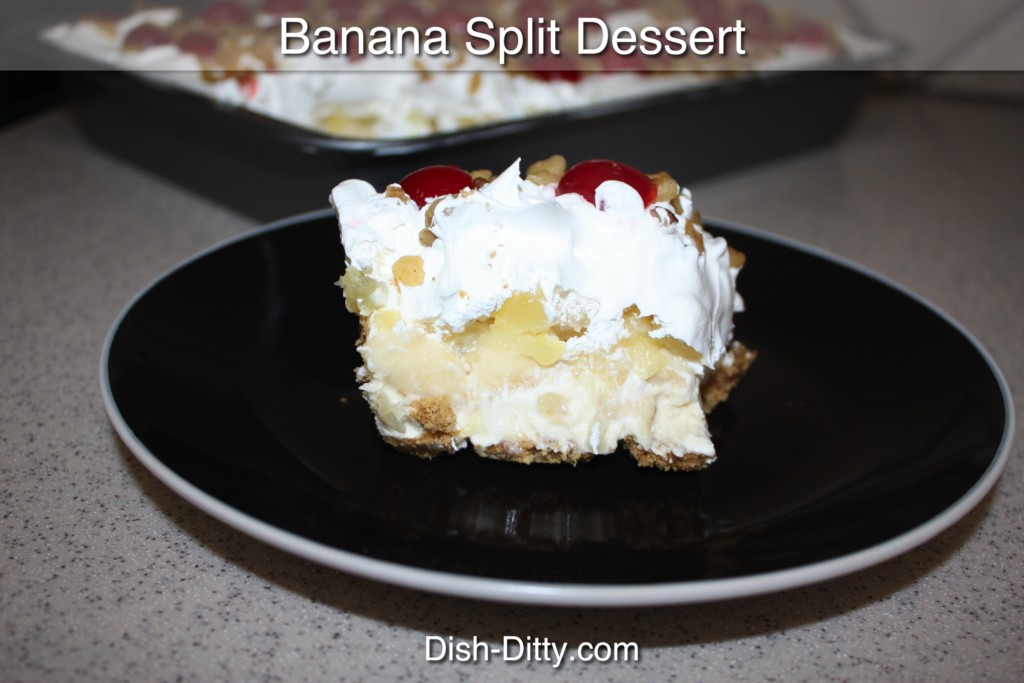 Banana Split Desert Recipe by Dish Ditty Recipes