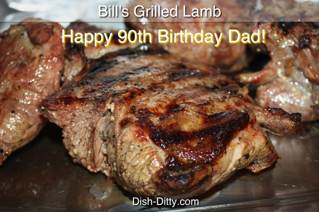 12 Days of Christmas Recipes... Day 7 - Bill's Grilled Lamb