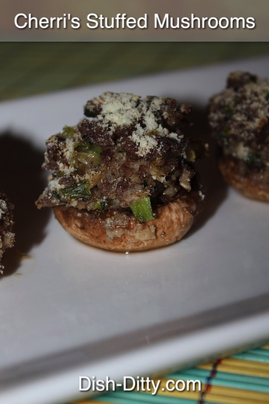 Cherri's Stuffed Mushrooms Recipe by Dish Ditty Recipes