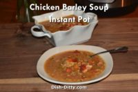 Chicken Barley Soup Recipe for Instant Pot