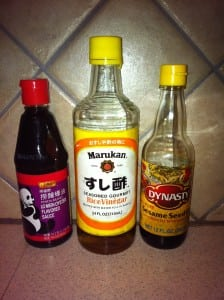 Lo Mein sauce, Seasoned Rice Wine Vinegar, Sesame Oil