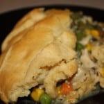 Served Chicken Pot Pie