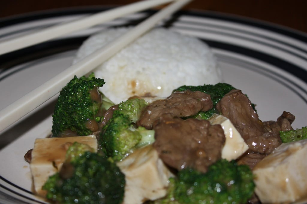 Beef with Tofu and Broccoli