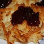 Potato Pancakes with Grape Jelly