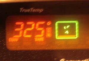 Preheat to 325 degrees