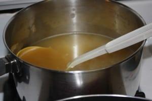 Heat Chicken Broth